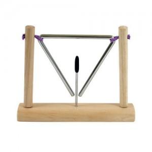 Triângulo suspenso em suporte -  Ø15 cm